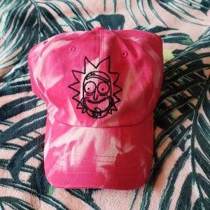 PRIMITIVE Rick & Morty Pink Baseball Cap Hat NEW